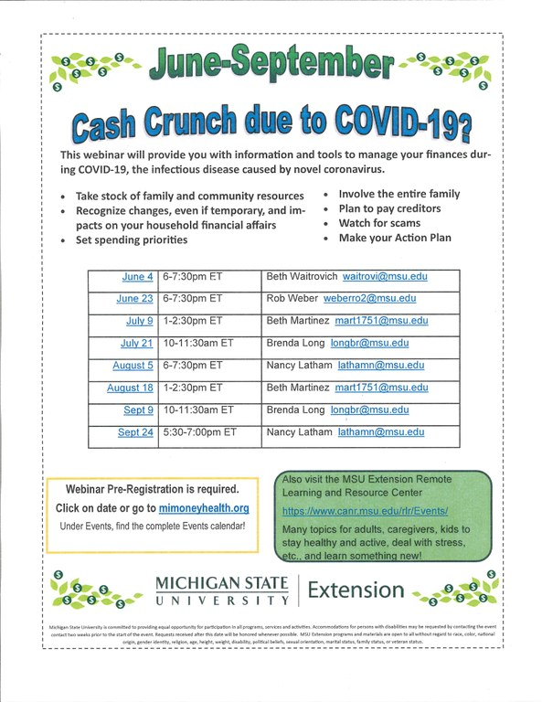 Covid Cash Crunch
