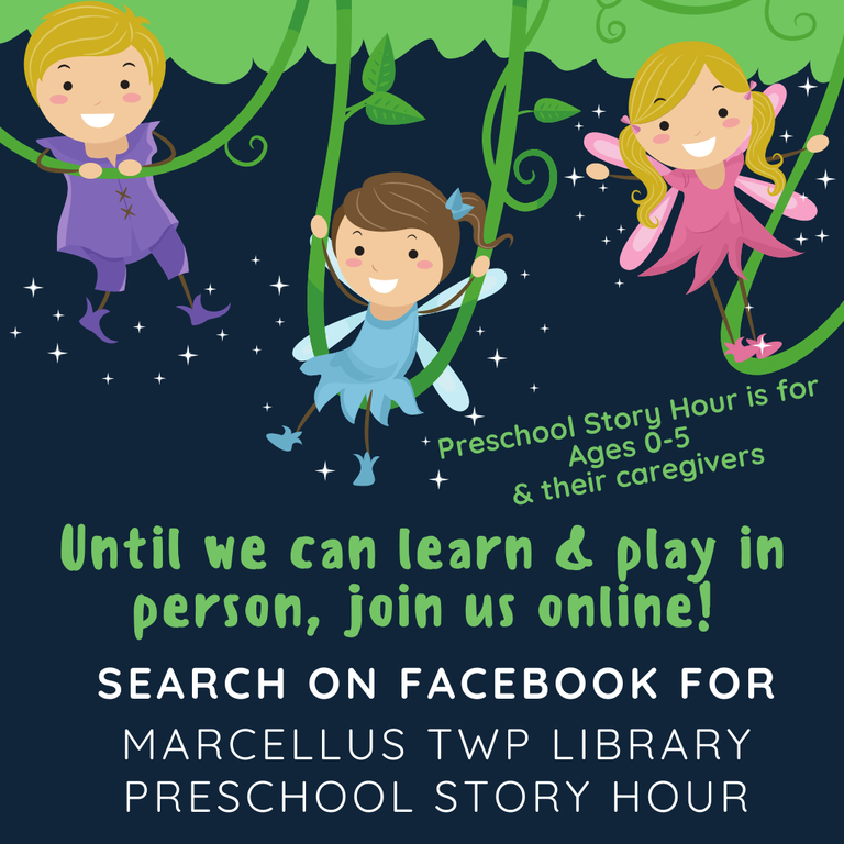 Virtual Preschool Story Hour on Facebook
