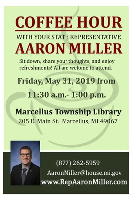 Coffee Hour with Your State Representative Aaron Miller