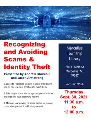 Recognizing and Avoiding Scams & Identity Theft