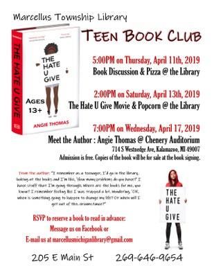 Teen Book Club: The Hate U Give